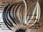 Перука от естествен косъм - средни цветове - равен път - 61 см